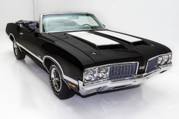 For Sale Used 1970 Oldsmobile 442 Triple Black 455 A/C Ram Air | American Dream Machines Des Moines IA 50309