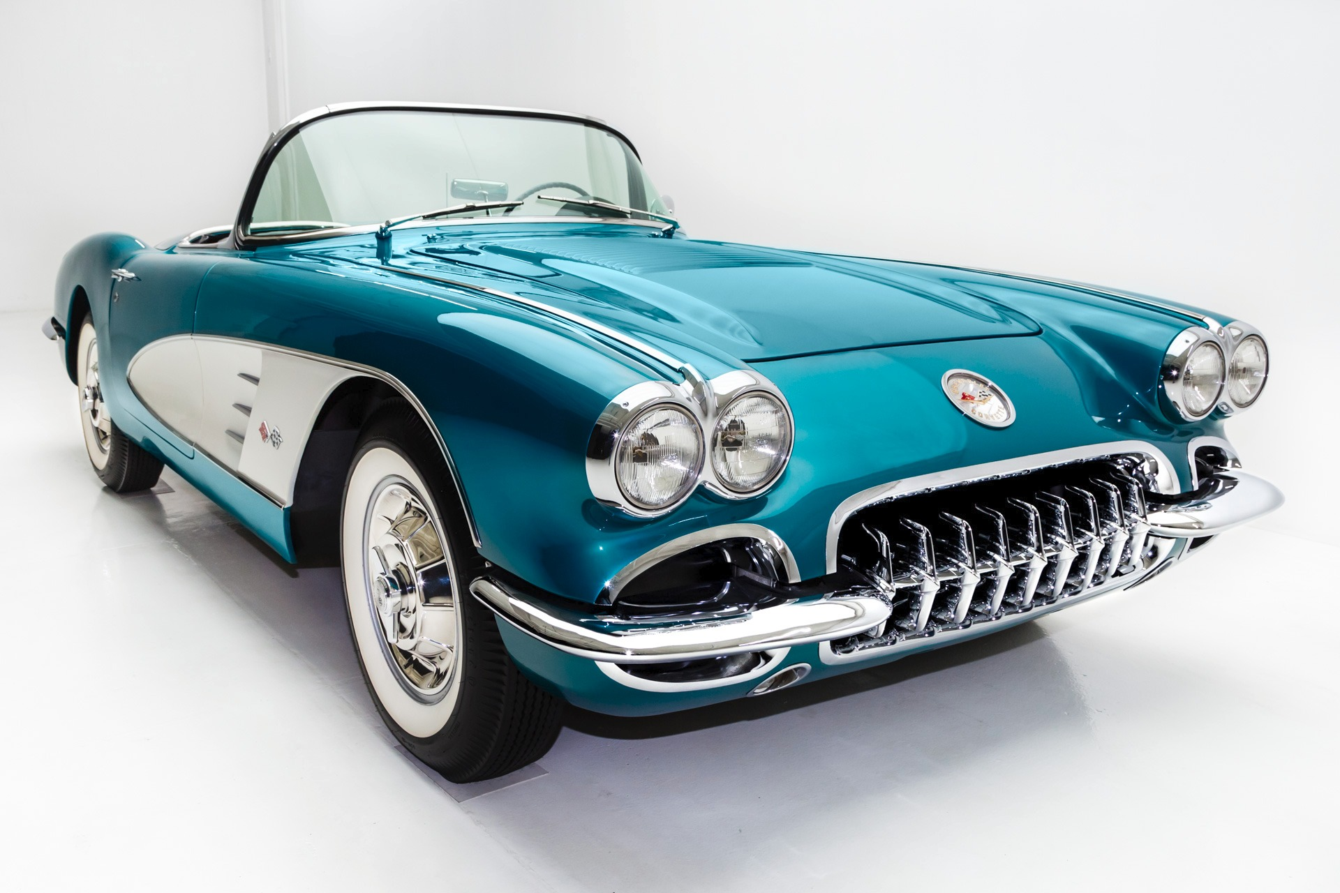 1958 chevrolet corvette rare regal turquoise. Black Bedroom Furniture Sets. Home Design Ideas