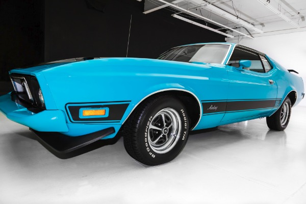 For Sale Used 1973 Ford Mustang Mach 1, New Chrome Magnums | American Dream Machines Des Moines IA 50309
