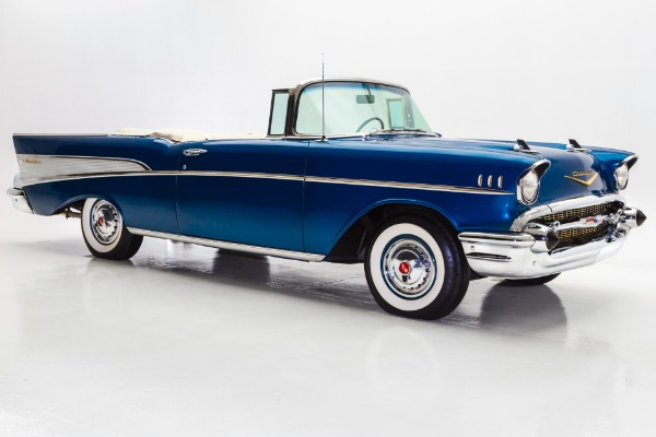For Sale Used 1957 Chevrolet Bel Air Deep Blue, Power Pack 283 | American Dream Machines Des Moines IA 50309