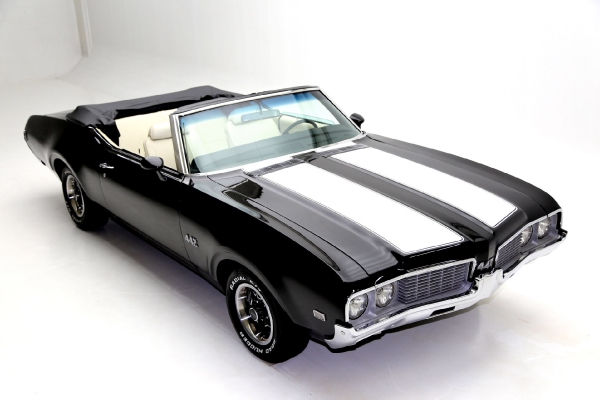 For Sale Used 1969 Oldsmobile Cutlass 442 Real 442 black | American Dream Machines Des Moines IA 50309