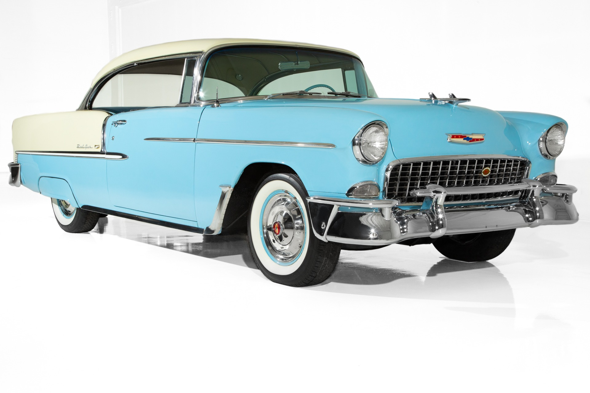 1955 Chevrolet Bel Air Blue, Ivory, V8 Auto PS PB - American Dream ...