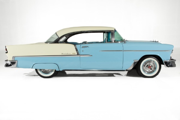 For Sale Used 1955 Chevrolet Bel Air Blue, Ivory, V8 Auto PS PB | American Dream Machines Des Moines IA 50309