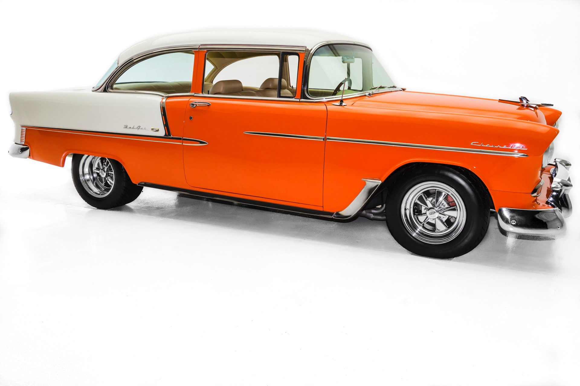 For Sale Used 1955 Chevrolet Bel Air The Orange Crush, 396 | American Dream Machines Des Moines IA 50309