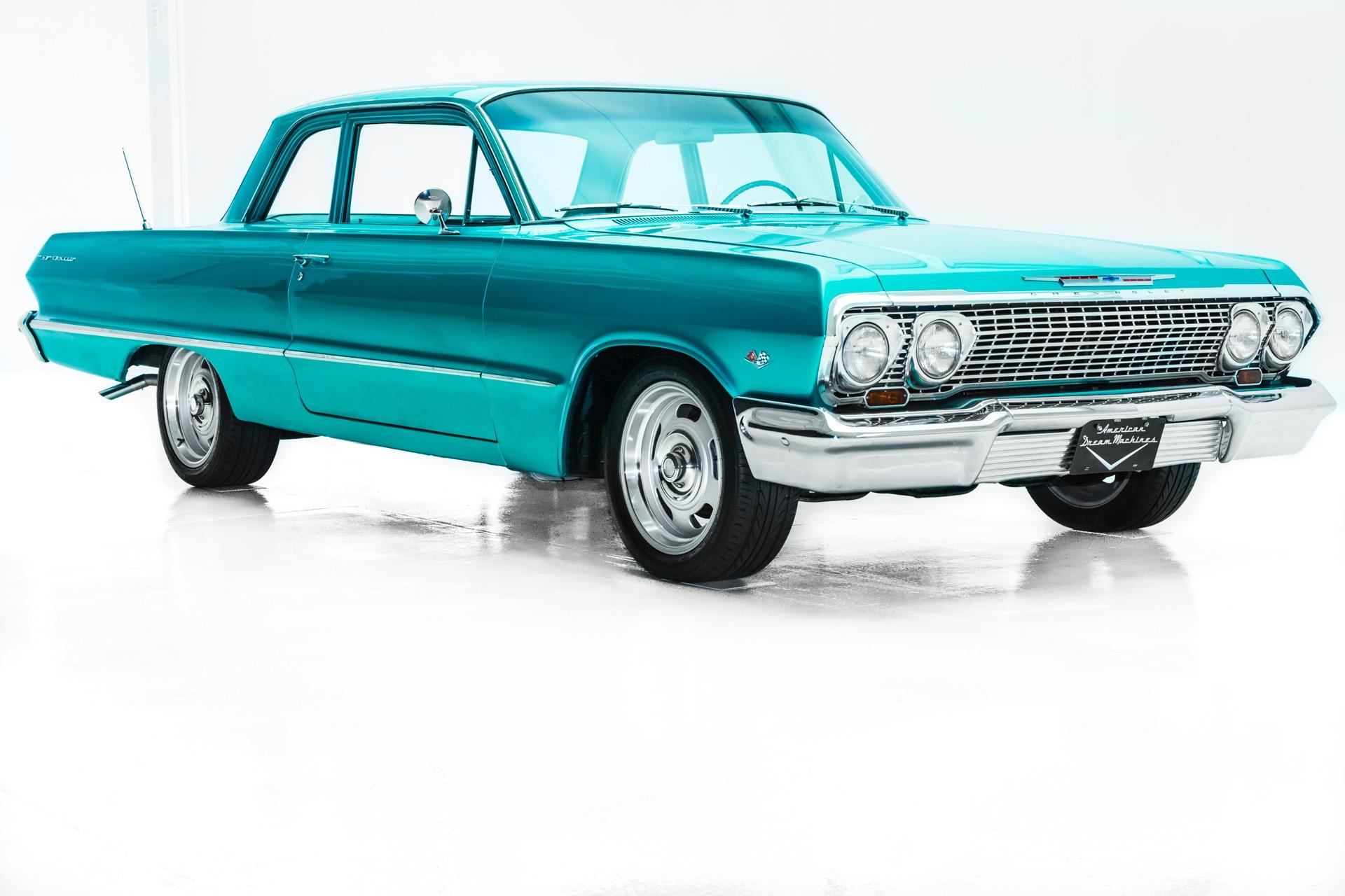 1963 Chevrolet Bel Air 4-Spd PS PB New Chrome