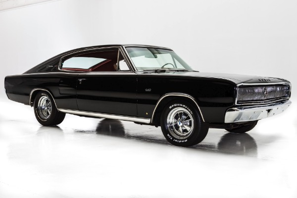 For Sale Used 1966 Dodge Charger Black/Red 440,727 Auto | American Dream Machines Des Moines IA 50309