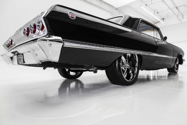 For Sale Used 1963 Chevrolet Impala Black 4-Speed New Chrome | American Dream Machines Des Moines IA 50309