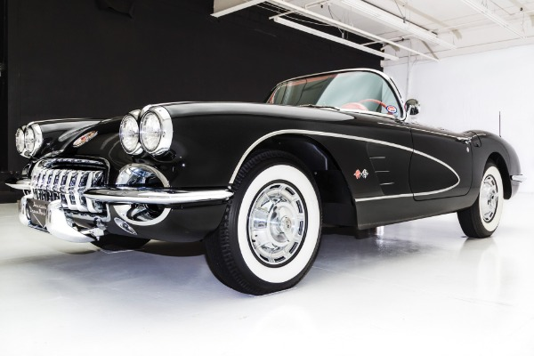 For Sale Used 1958 Chevrolet Corvette Black & Red Frame-Off | American Dream Machines Des Moines IA 50309