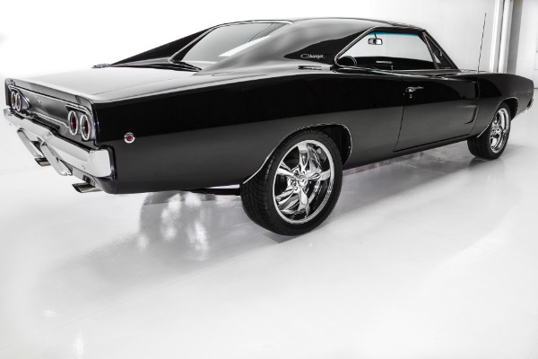 For Sale Used 1968 Dodge Charger Black 440, Pistol Grip 4-Spd | American Dream Machines Des Moines IA 50309