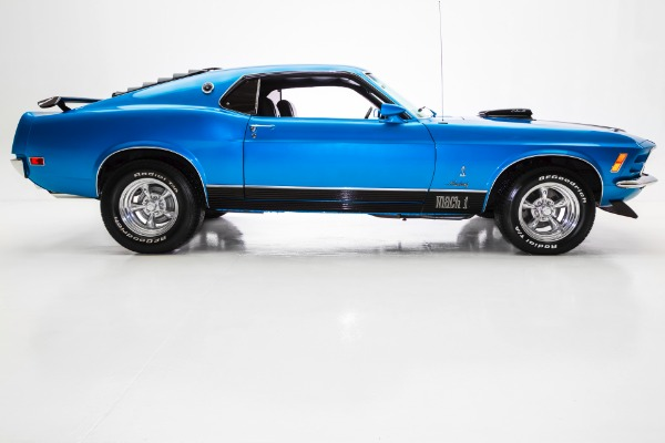 For Sale Used 1970 Ford Mustang Blue R Code 428 Cobra Jet | American Dream Machines Des Moines IA 50309