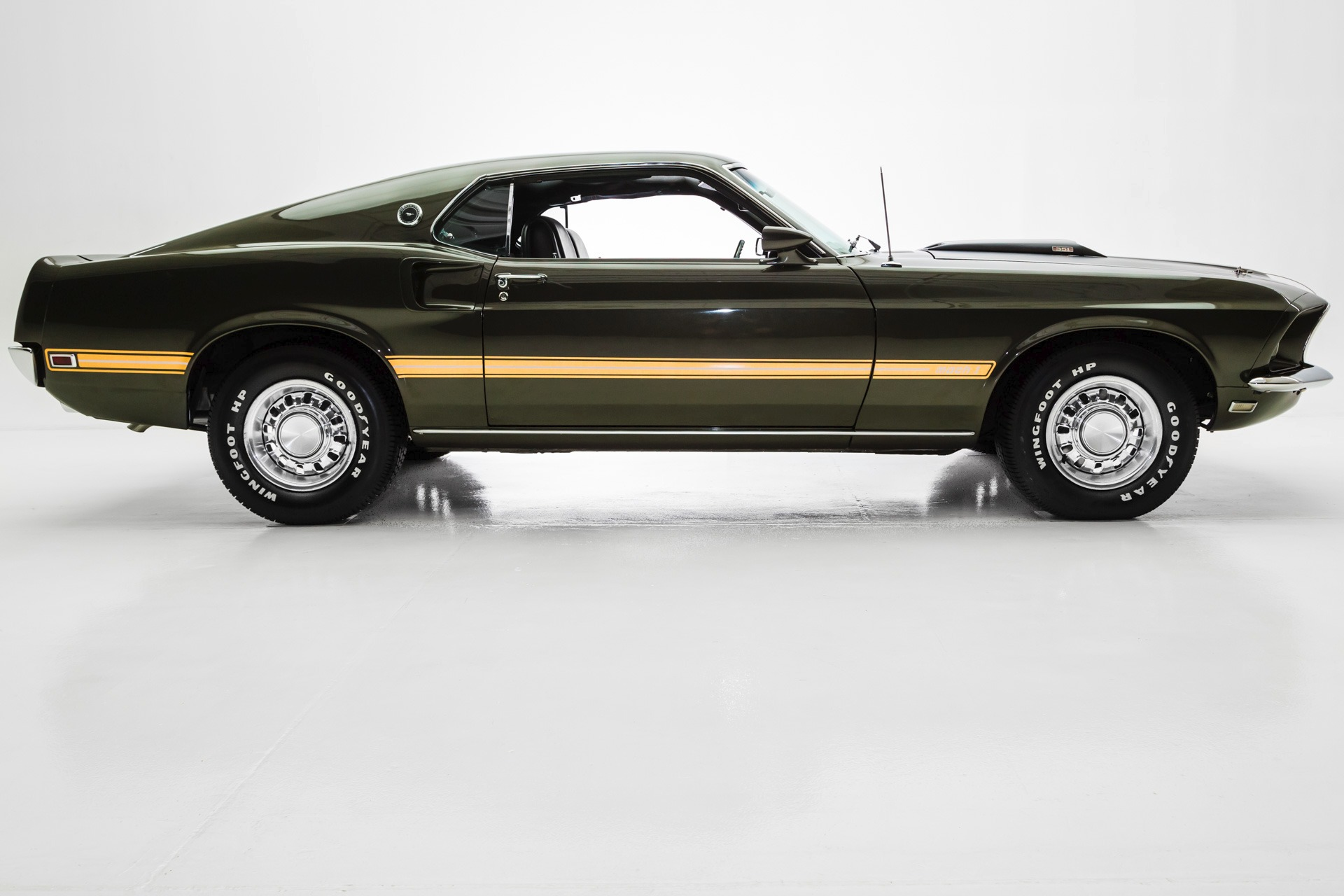 Used 1969 ford mustang mach 1 dark jade green 351 a c st