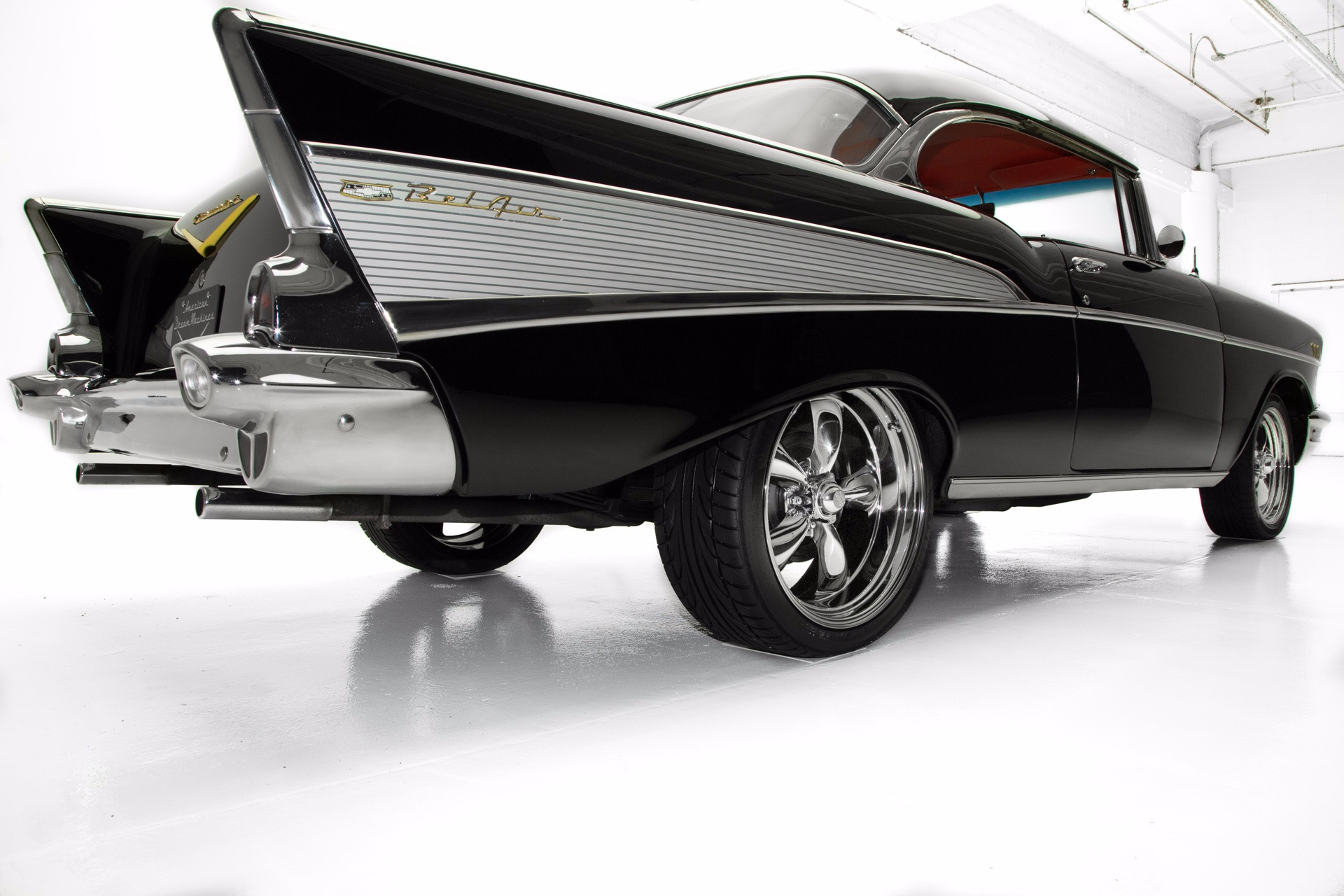1957 Chevrolet Bel Air Black 283 V8 Automatic AC - American Dream ...