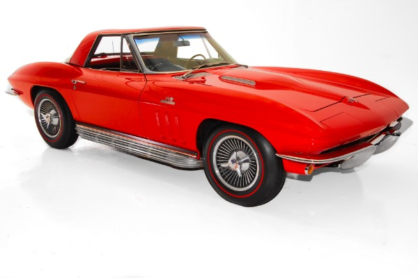 For Sale Used 1965 Chevrolet Corvette Red 400hp Big Block AC | American Dream Machines Des Moines IA 50309