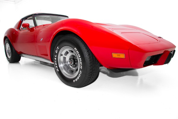 For Sale Used 1977 Chevrolet Corvette T-Tops, Red and White, 350, Automatic, Tilt Steering, Cruise Control | American Dream Machines Des Moines IA 50309