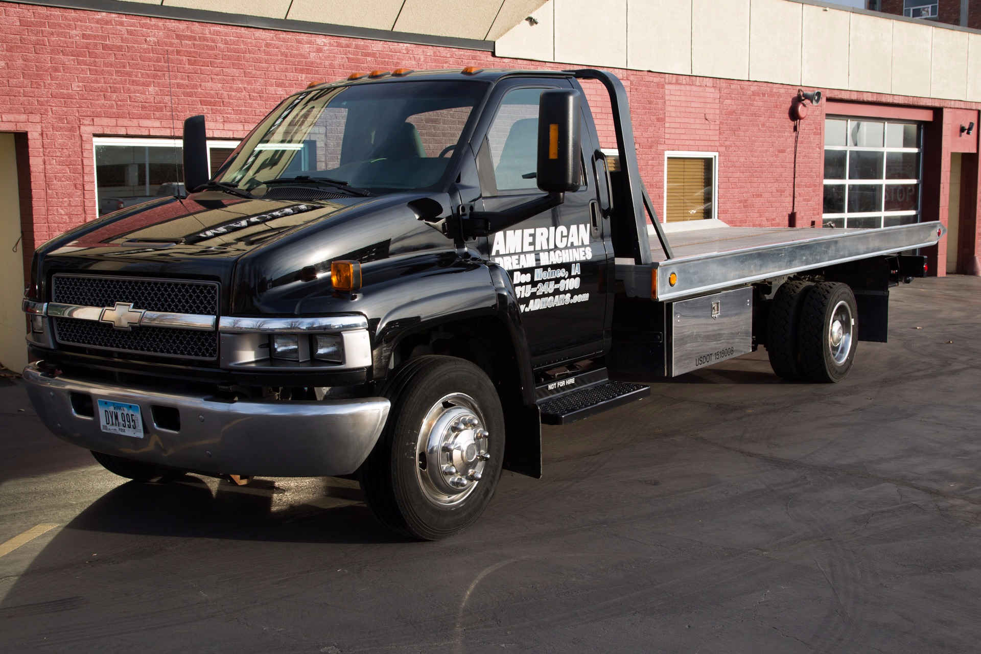2003 Chevrolet 5500 Black Rollback, Tow-truck, Flatbed