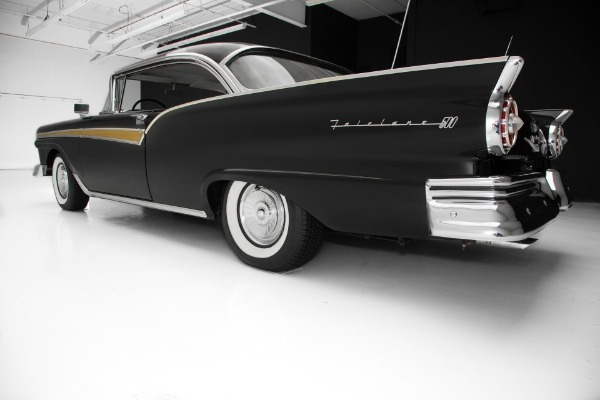 For Sale Used 1957 Ford Fairlane 500 Black/Black New Chrome | American Dream Machines Des Moines IA 50309