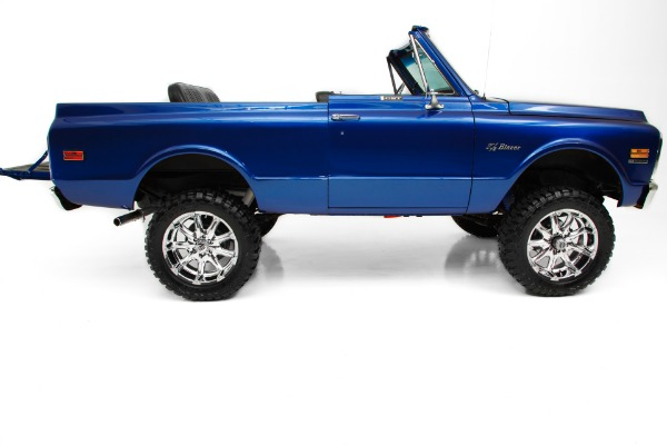 For Sale Used 1972 Chevrolet Blazer Blue Metallic 383 Soft top | American Dream Machines Des Moines IA 50309