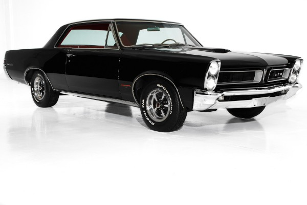 For Sale Used 1965 Pontiac GTO Black/Red 389/335 4-Speed PHS | American Dream Machines Des Moines IA 50309
