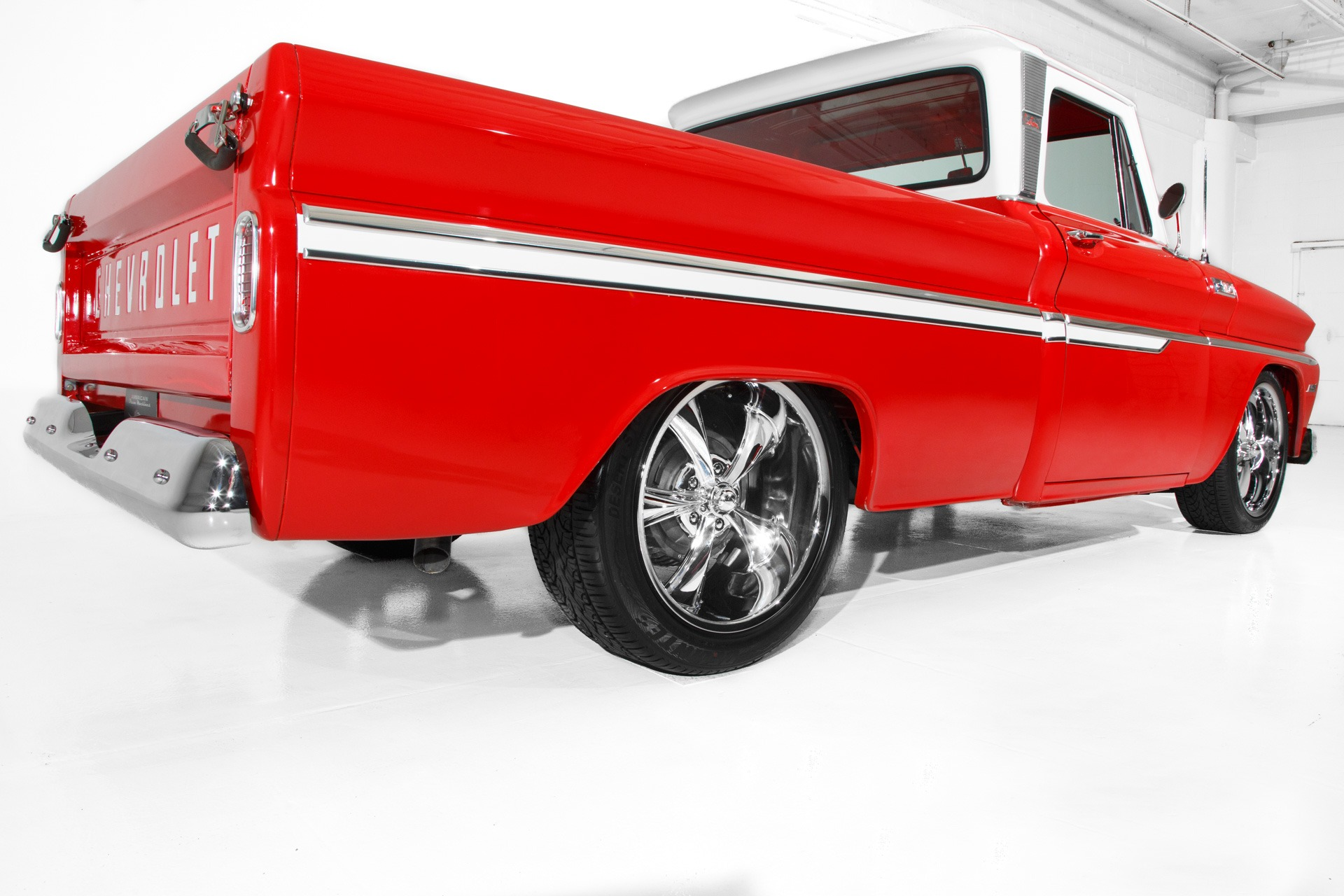For Sale Used 1965 Chevrolet Pickup Red C10 frame-Off LS1 Auto | American Dream Machines Des Moines IA 50309