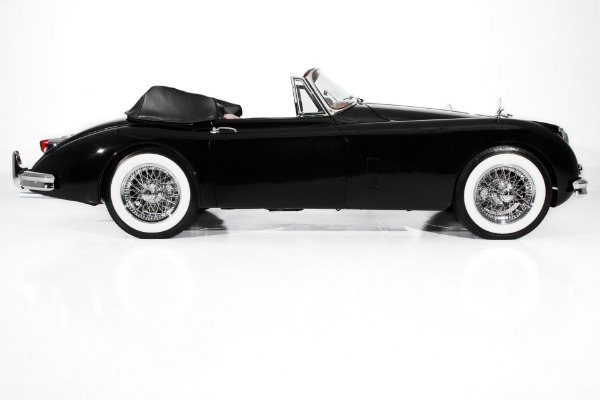 For Sale Used 1959 Jaguar XK150 Black, Red Leather, Stunning! | American Dream Machines Des Moines IA 50309
