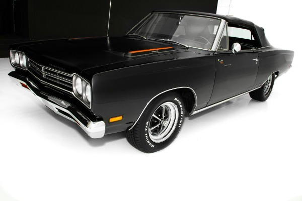 For Sale Used 1969 Plymouth Road Runner Triple Black 4-Speed | American Dream Machines Des Moines IA 50309