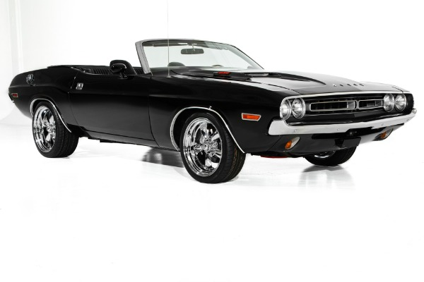 For Sale Used 1971 Dodge Challenger Triple Black 440 6pack | American Dream Machines Des Moines IA 50309