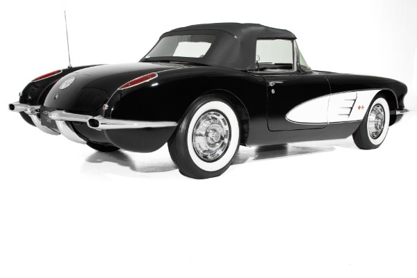 For Sale Used 1959 Chevrolet Corvette Black 4-speed, 2 tops | American Dream Machines Des Moines IA 50309