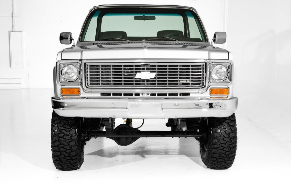 For Sale Used 1974 Chevrolet Blazer Silver/Black 4x4,  4-Speed | American Dream Machines Des Moines IA 50309