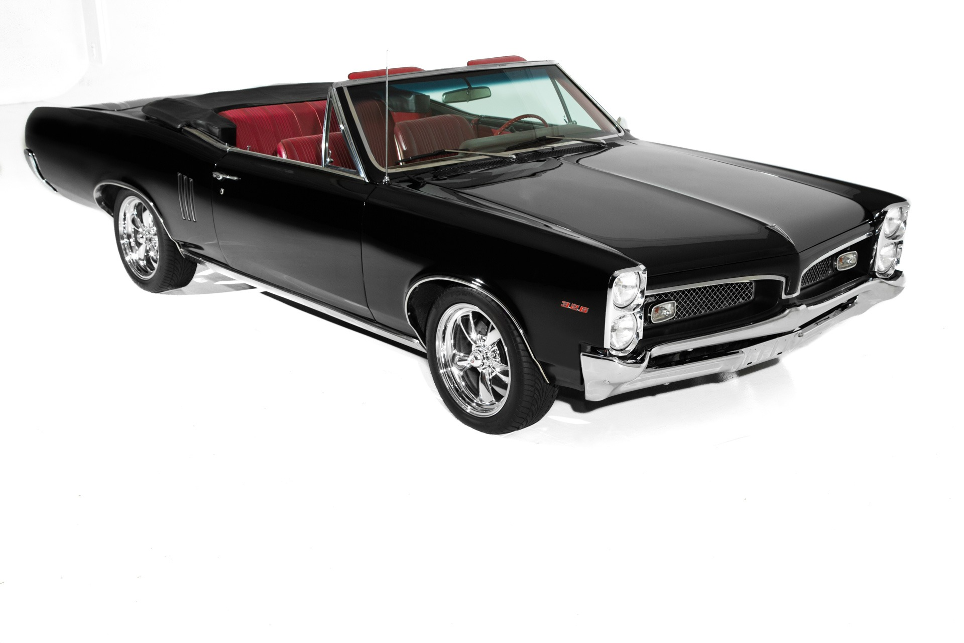 For Sale Used 1967 Pontiac LeMans Black & Red GTO Options | American Dream Machines Des Moines IA 50309