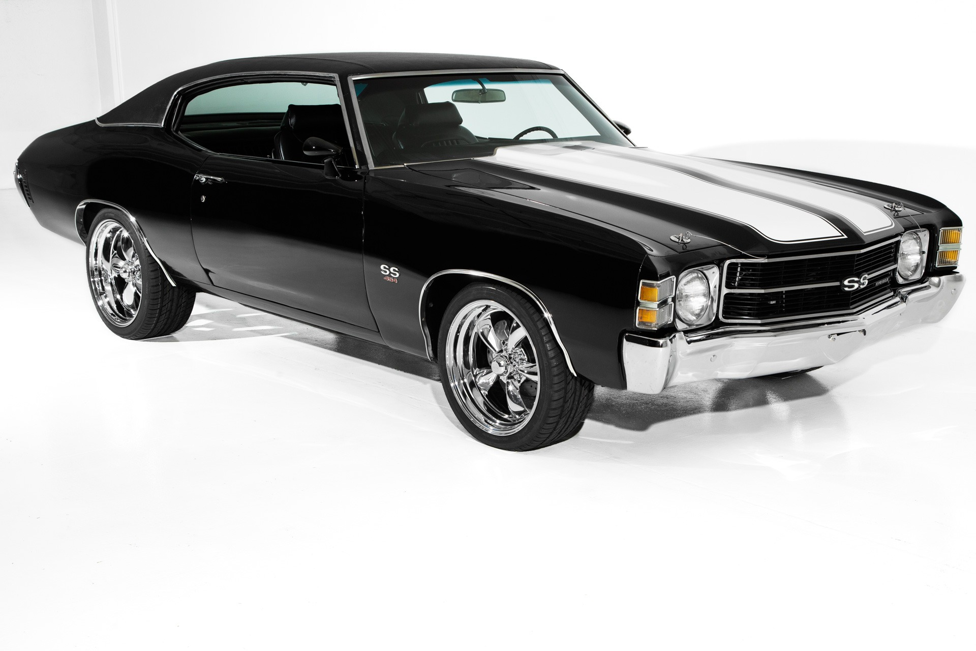 1971 Chevrolet Chevelle Triple Black 454 4 Spd Ac