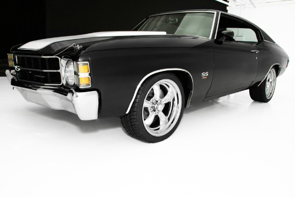 For Sale Used 1971 Chevrolet Chevelle Triple Black 454 4-Spd AC | American Dream Machines Des Moines IA 50309