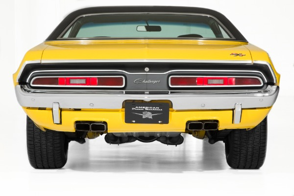 For Sale Used 1971 Dodge Challenger RT Yellow Rotisserie Car | American Dream Machines Des Moines IA 50309