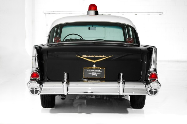 For Sale Used 1957 Chevrolet Bel Air Police Car V8 New Chrome | American Dream Machines Des Moines IA 50309