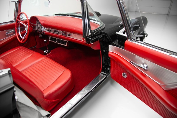 For Sale Used 1957 Ford Thunderbird Black/Red 2 Tops PS PB AC | American Dream Machines Des Moines IA 50309