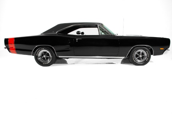 For Sale Used 1969 Dodge Coronet RT Triple Black  440, A/C | American Dream Machines Des Moines IA 50309