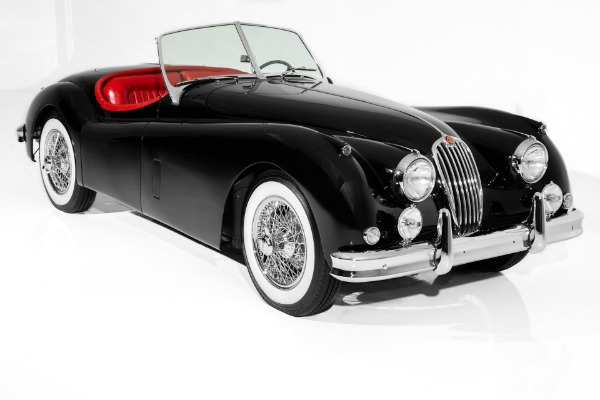 1956 Jaguar XK140 Black/Red Roadster Stunning