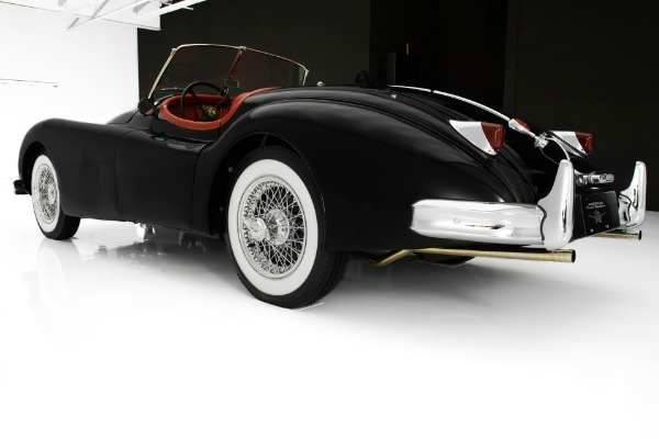 For Sale Used 1956 Jaguar XK140 Black/Red Roadster 5-Speed | American Dream Machines Des Moines IA 50309
