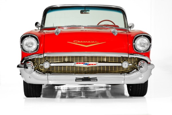 For Sale Used 1957 Chevrolet Bel Air Auto PS PB Chrome | American Dream Machines Des Moines IA 50309