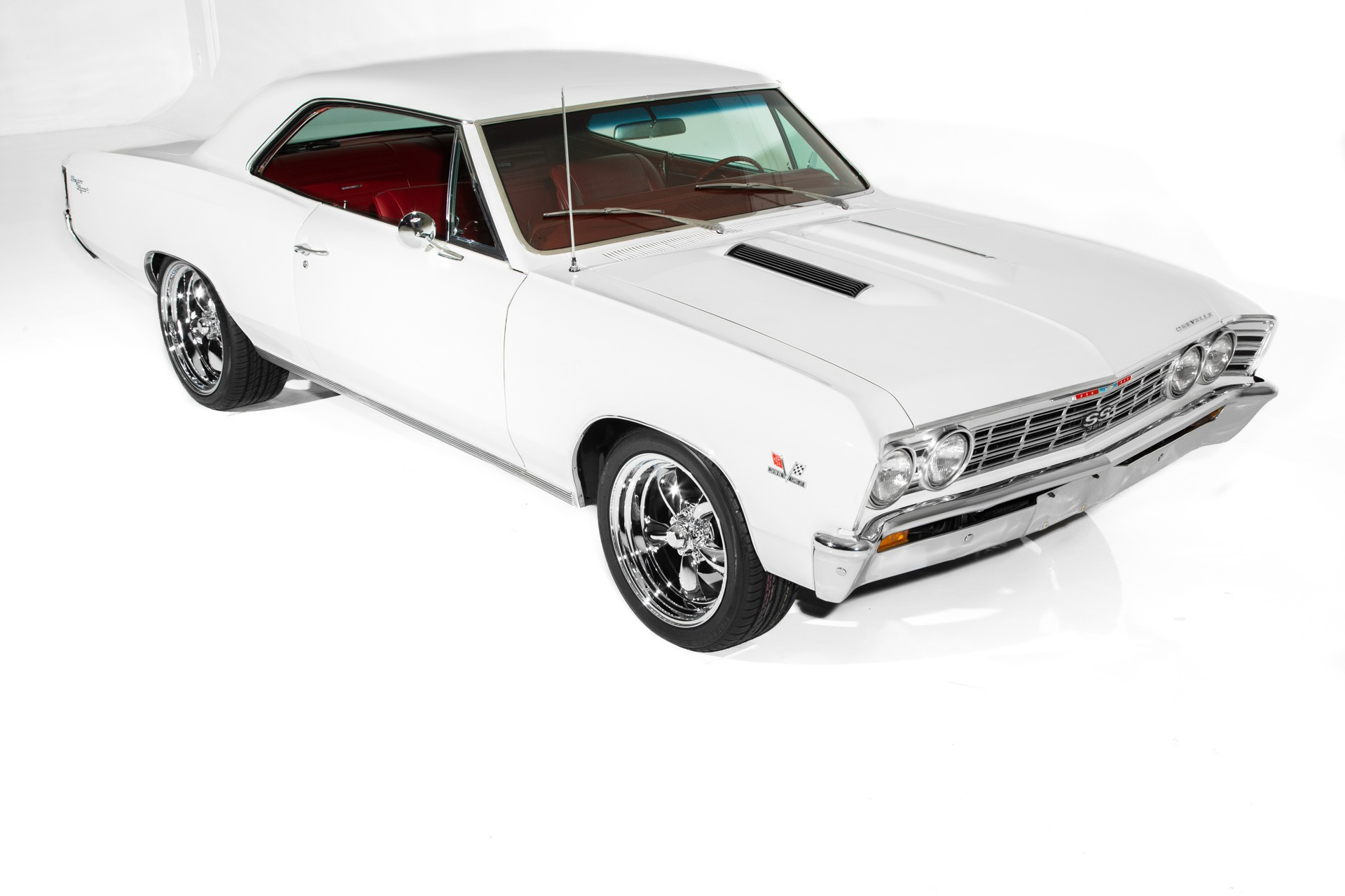For Sale Used 1967 Chevrolet Chevelle SS options PS  PB AC Chrome | American Dream Machines Des Moines IA 50309