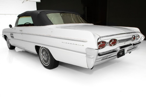 For Sale Used 1962 Oldsmobile 98 Convertible, White, Rocket V8, Automatic | American Dream Machines Des Moines IA 50309