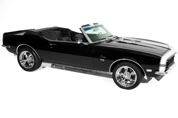 For Sale Used 1968 Chevrolet Camaro RS/SS Convertible, Black on Black, 350, 4-Speed, 355 gears | American Dream Machines Des Moines IA 50309