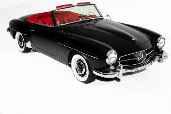 1961 Mercedes 190SL Black Gorgeous Red Leather