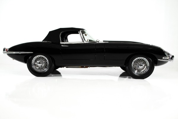 For Sale Used 1962 Jaguar E-Type Rare Black/Red Extraordinary | American Dream Machines Des Moines IA 50309