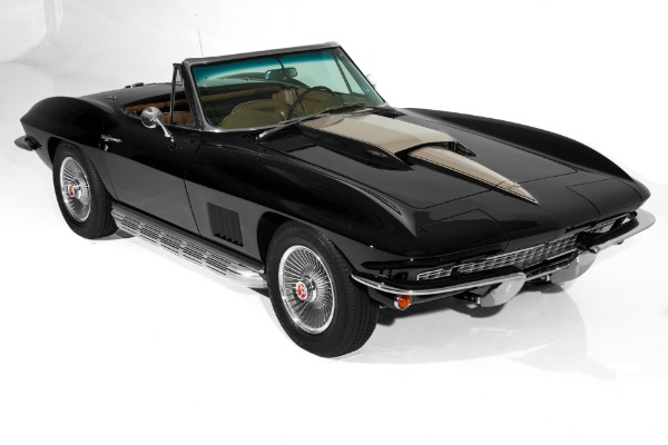 For Sale Used 1967 Chevrolet Corvette Black 427/435  2 tops | American Dream Machines Des Moines IA 50309