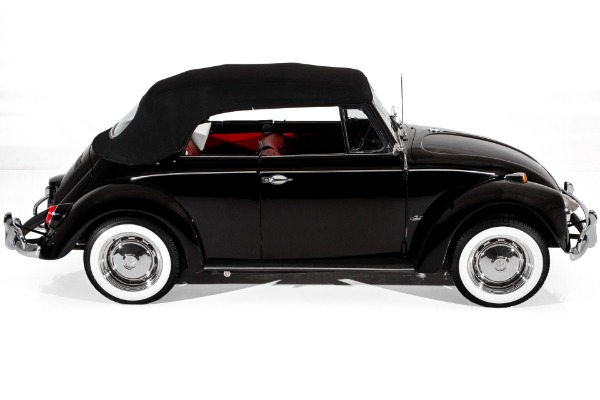 For Sale Used 1967 Volkswagen Beetle Convertible  Black/Red | American Dream Machines Des Moines IA 50309