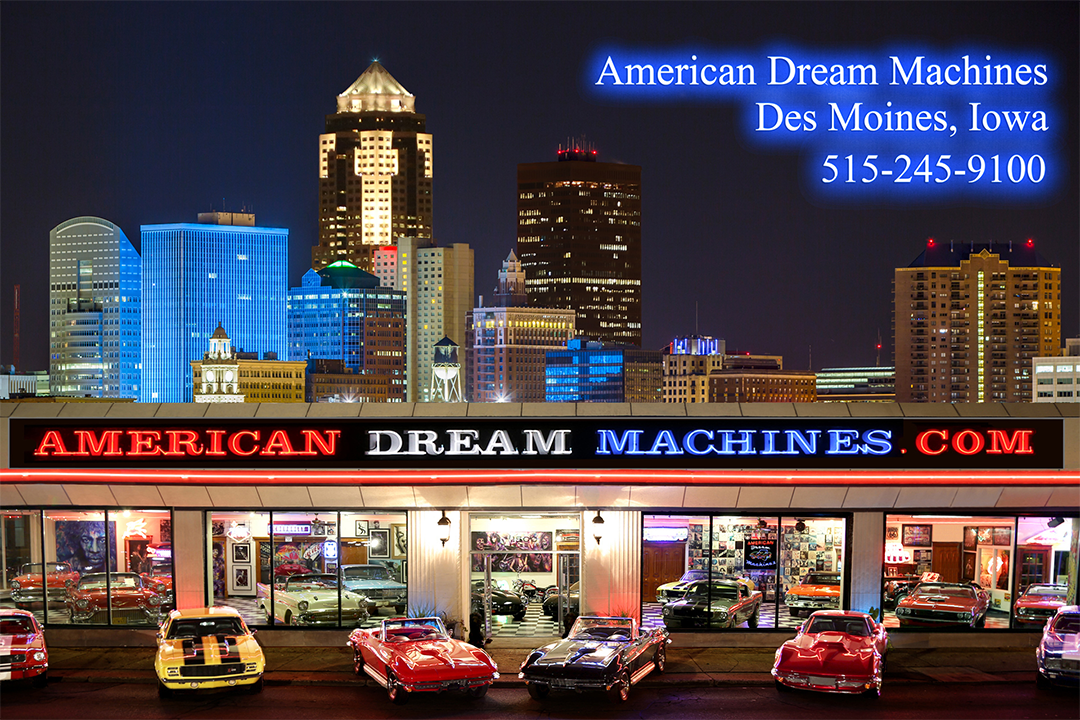 American Dream Machines Classic Car Lot in Iowa